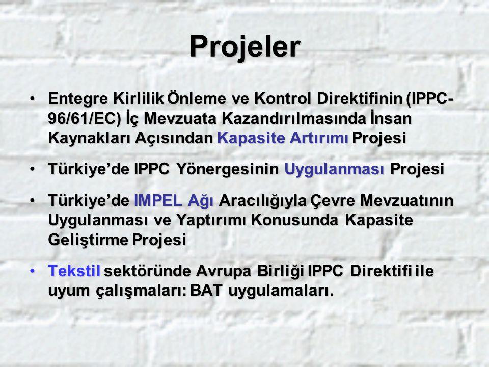 Sektörel Çalışmalar IPPC Kapsamı ve Türkiye'deki sektörlerIPPC Kapsamı ve Türkiye'deki sektörler Sektörel yapılanma (Birlik-Dernek-Meclis)Sektörel yapılanma (Birlik-Dernek-Meclis) İlgili BREF'lerİlgili BREF'ler İşbirliği ve iş paylaşımı, çalışma gruplarıİşbirliği ve iş paylaşımı, çalışma grupları Ulusal sektörel profilin belirlenmesiUlusal sektörel profilin belirlenmesi