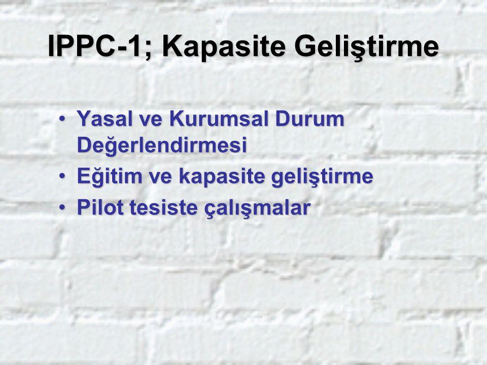 IPPC-1; Kapasite Geliştirme Yasal ve Kurumsal Durum DeğerlendirmesiYasal ve Kurumsal Durum Değerlendirmesi Eğitim ve kapasite geliştirmeEğitim ve kapa