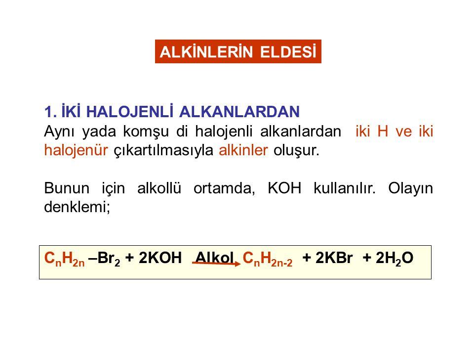 C.Polimerleşe tepkimeleri verirler. 3 H -C≡C-H C 6 H 6 (Benzen) D.