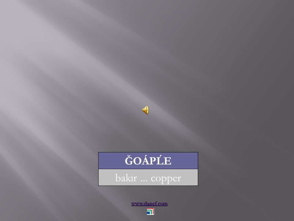 www.danef.com ĞOÁPĹE bakır... copper