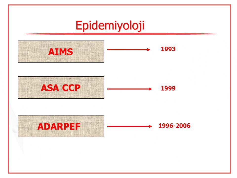 Sunum içeriği Epidemiyoloji Rejyonal anestezide görülen komplikasyonlar Blok tipine özgü komplikasyonlar