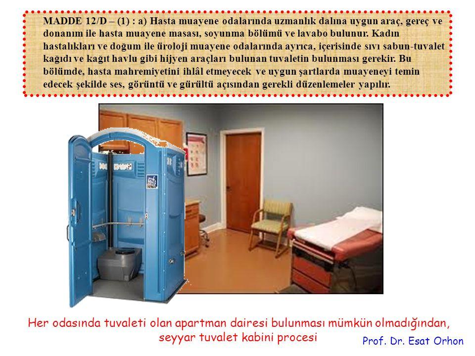 MADDE 12/D – (1) : a) Hasta muayene odalarında uzmanlık dalına uygun araç, gereç ve donanım ile hasta muayene masası, soyunma bölümü ve lavabo bulunur