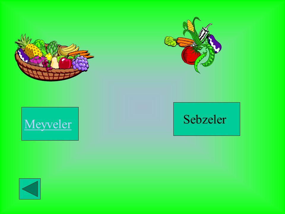Meyveler Sebzeler