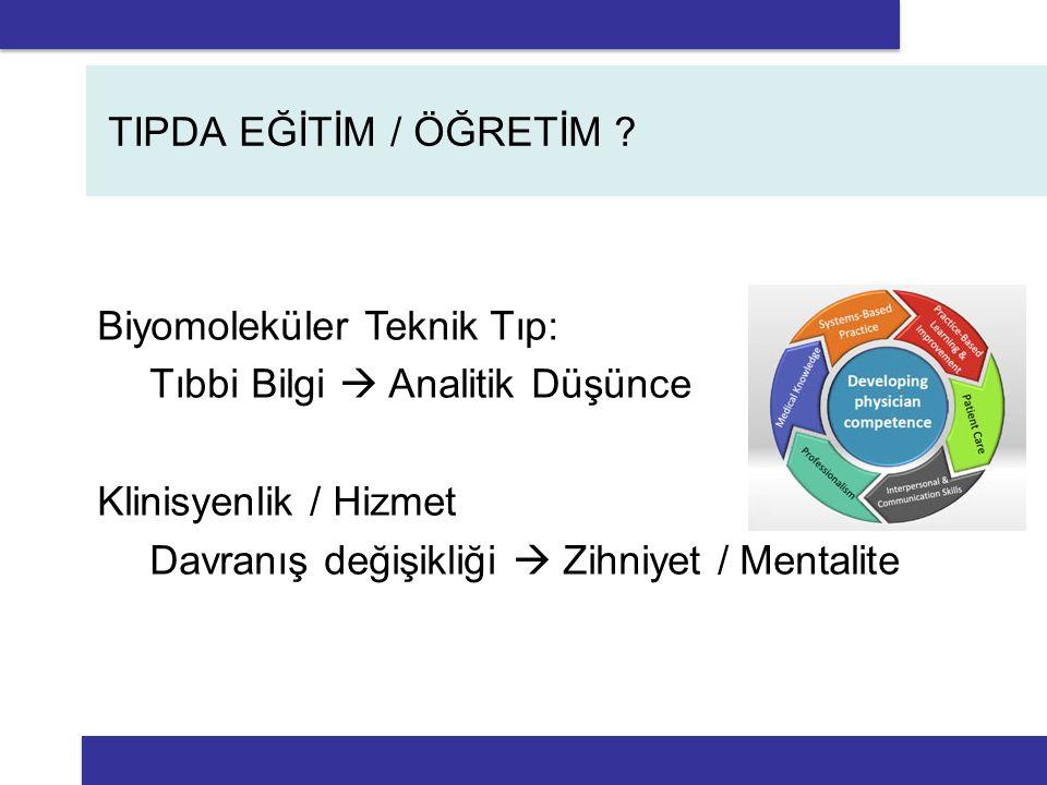 TIPDA EĞİTİM / ÖĞRETİM .