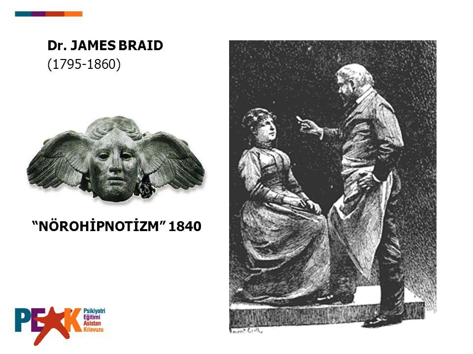 """Dr. JAMES BRAID (1795-1860) """"NÖROHİPNOTİZM"""" 1840"""