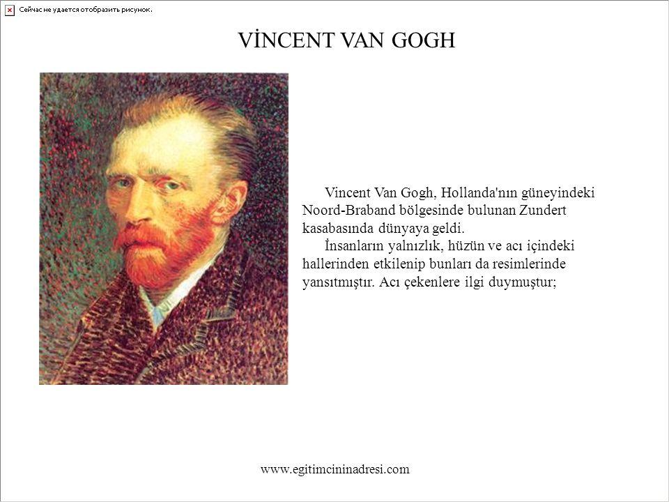 GECE KAHVESİ Vincent`in Yatak Odası Gecenin renkleri www.egitimcininadresi.com