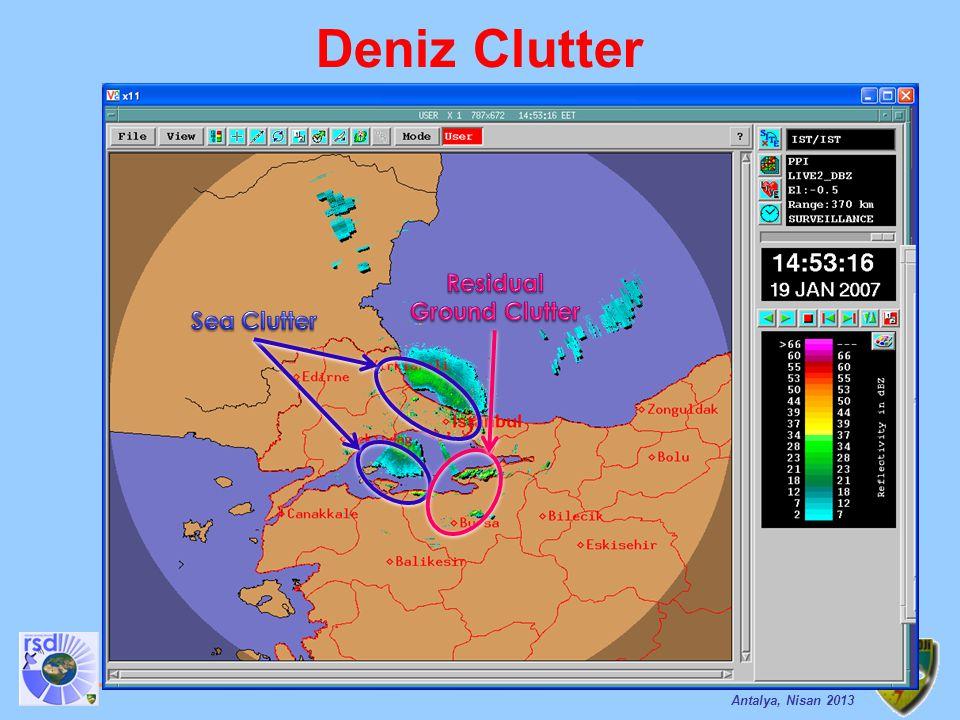 Analiz ve Tahmin Teknikleri Eğitimi Antalya, Nisan 2013 Deniz Clutter