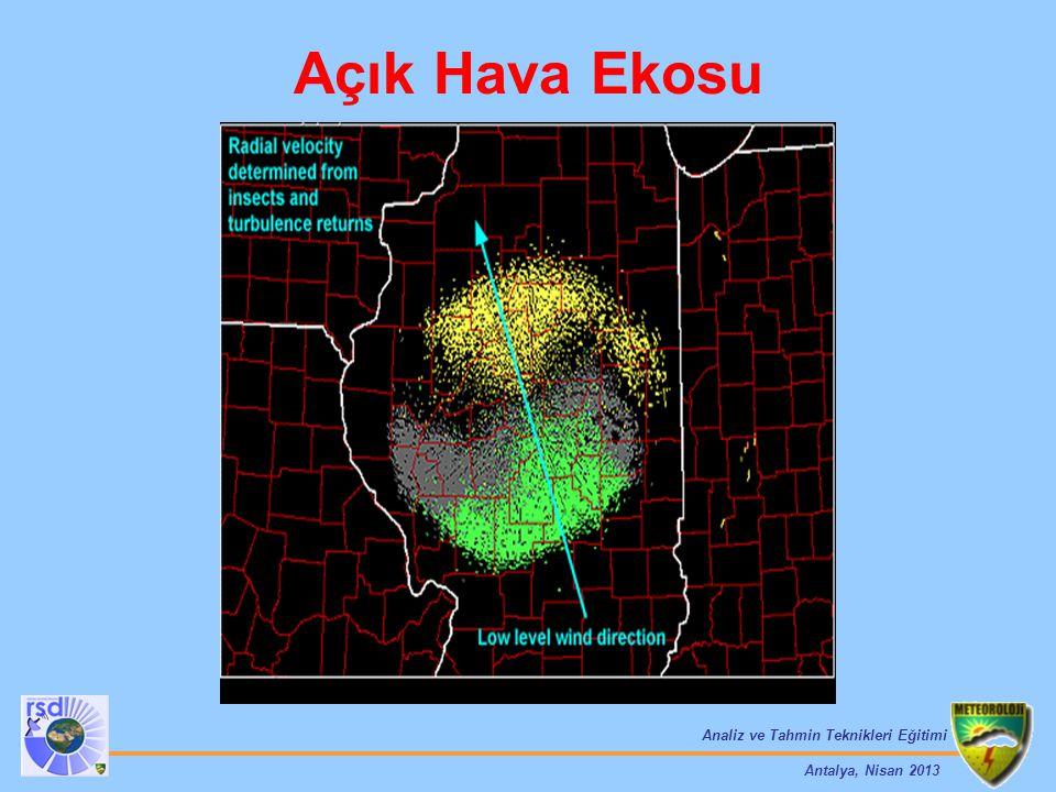Analiz ve Tahmin Teknikleri Eğitimi Antalya, Nisan 2013 Açık Hava Ekosu
