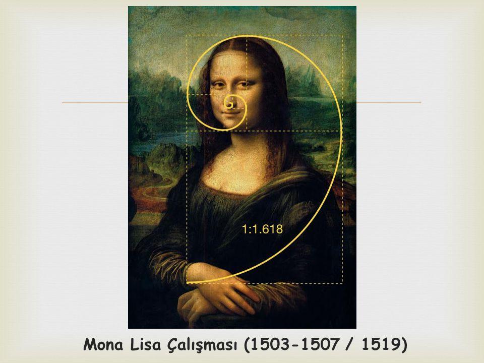  Mona Lisa Çalışması (1503-1507 / 1519)