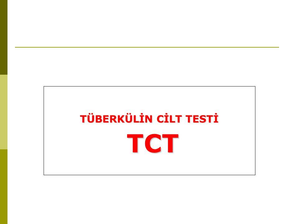 TÜBERKÜLİN CİLT TESTİ TCT TCT