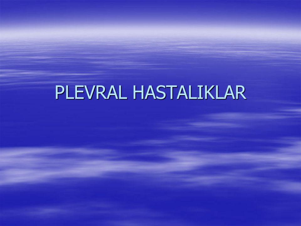 PLEVRAL HASTALIKLAR