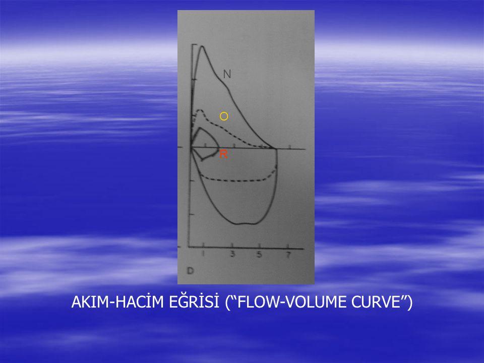 "AKIM-HACİM EĞRİSİ (""FLOW-VOLUME CURVE"") R O N"