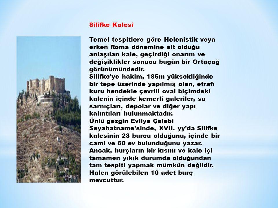 Silifke Kalesi Temel tespitlere göre Helenistik veya erken Roma dönemine ait olduğu anlaşılan kale, geçirdiği onarım ve değişiklikler sonucu bugün bir