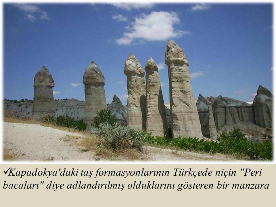 Kapadokya'daki taş formasyonlarının Türkçede niçin