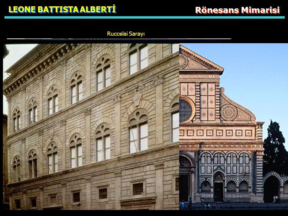 Rönesans Mimarisi LEONE BATTISTA ALBERTİ Ruccelai Sarayı