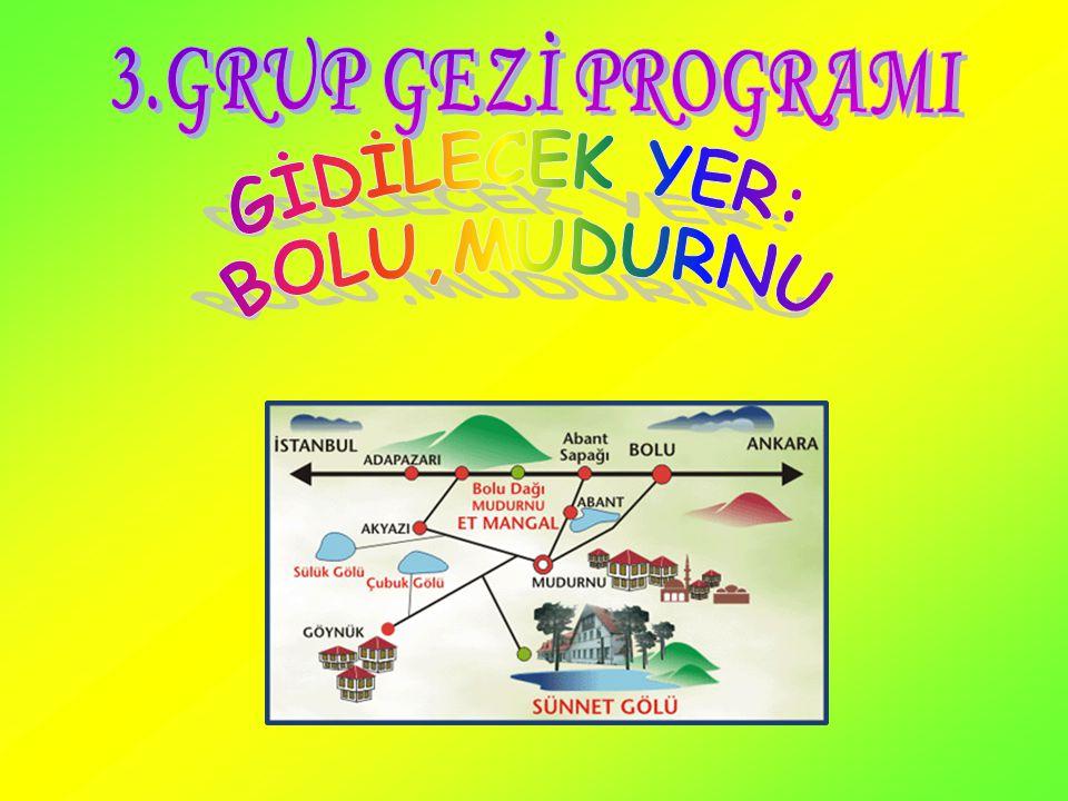 YOLA ÇIKIŞ Öncelikle saat sekizde Ulusoy'un iki katlı otobüslerine binerek yola çıkılır.Sonra Osmancık'ta yarım saat yemek molası verilir.Tekrar yola çıkılır.7 saat içinde Bolu'ya varılır.