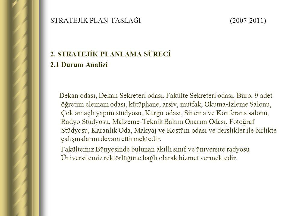 STRATEJİK PLAN TASLAĞI (2007-2011) 2.