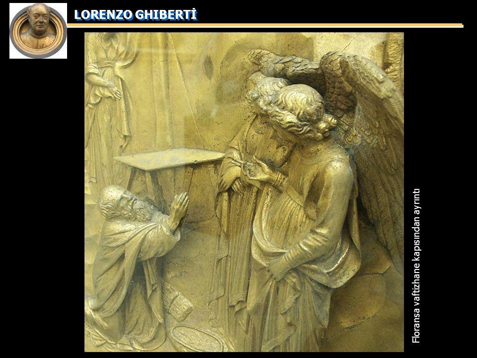 LORENZO GHIBERTİ Floransa vaftizhane kapısından ayrıntı