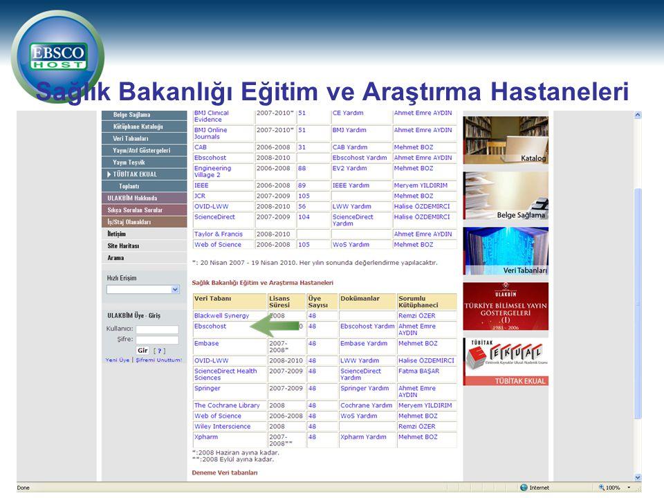 Sağlık Bakanlığı Eğitim ve Araştırma Hastaneleri