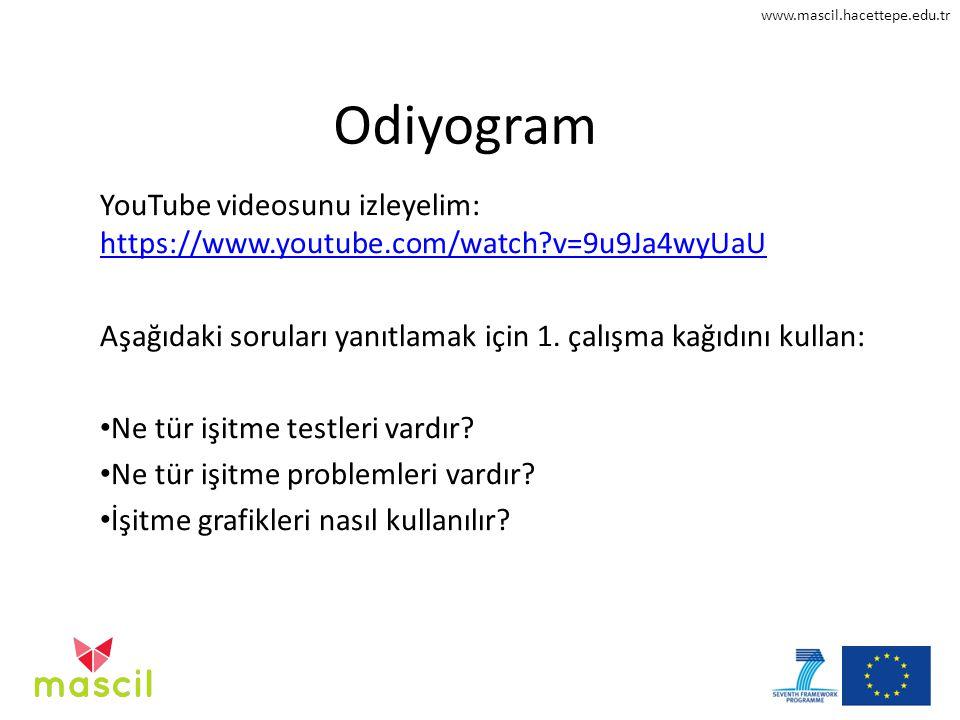 www.mascil.hacettepe.edu.tr Odiyogram YouTube videosunu izleyelim: https://www.youtube.com/watch?v=9u9Ja4wyUaU https://www.youtube.com/watch?v=9u9Ja4w