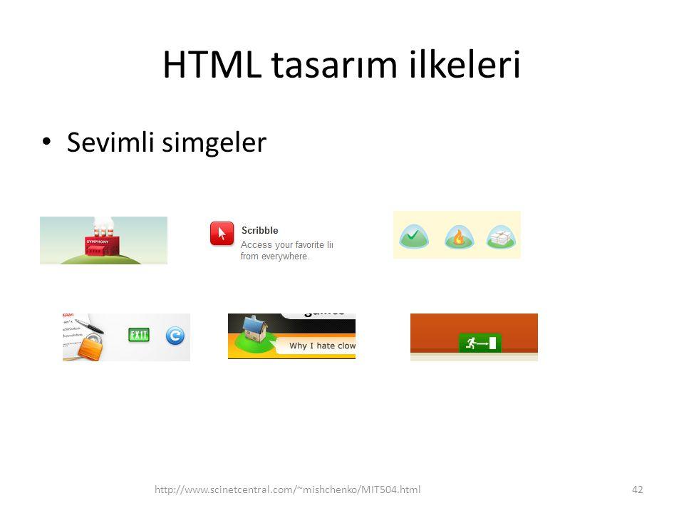HTML tasarım ilkeleri Sevimli simgeler http://www.scinetcentral.com/~mishchenko/MIT504.html42