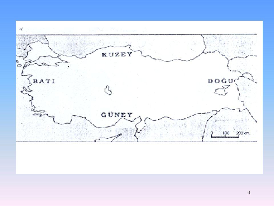 3 Haritanın Yönleri Haritalar yapılırken, haritası yapılan yerin kuzeyi üst tarafa, güneyi alt tarafa gelecek biçimde çizilir. Haritaların üst tarafı
