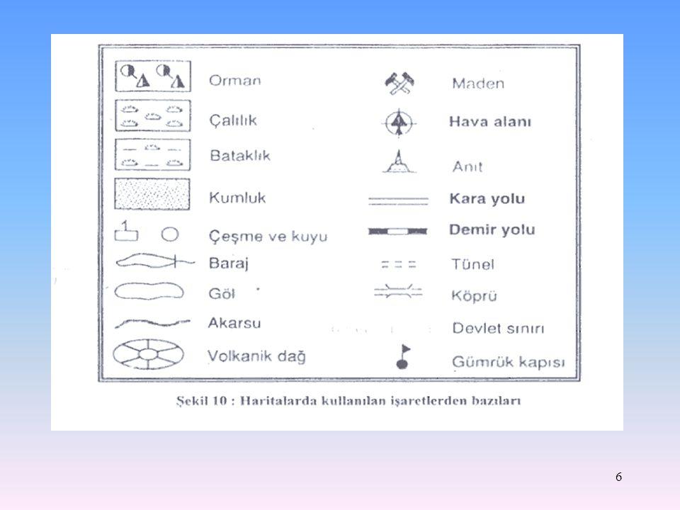 5 Harita Özel İşaretleri Haritadaki işaretlerin bilinmesi, haritanın anlaşılmasında büyük önem taşır. Çünkü bu işaretler haritanın dilini oluşturur. H