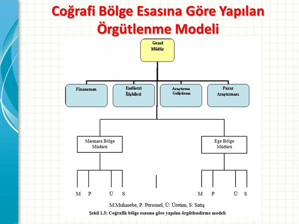Coğrafi Bölge Esasına Göre Yapılan Örgütlenme Modeli
