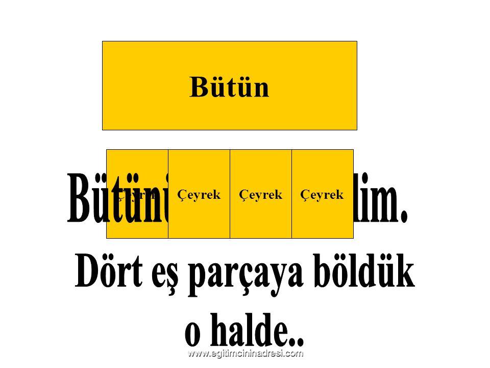 Bütün Çeyrek www.egitimcininadresi.com