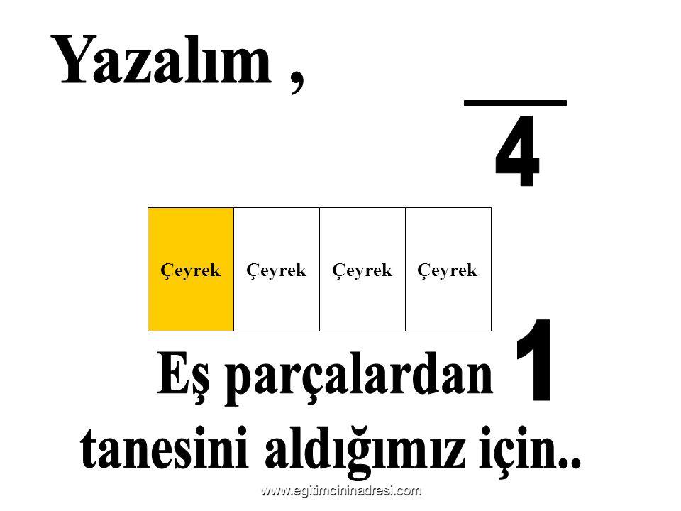 Çeyrek www.egitimcininadresi.com