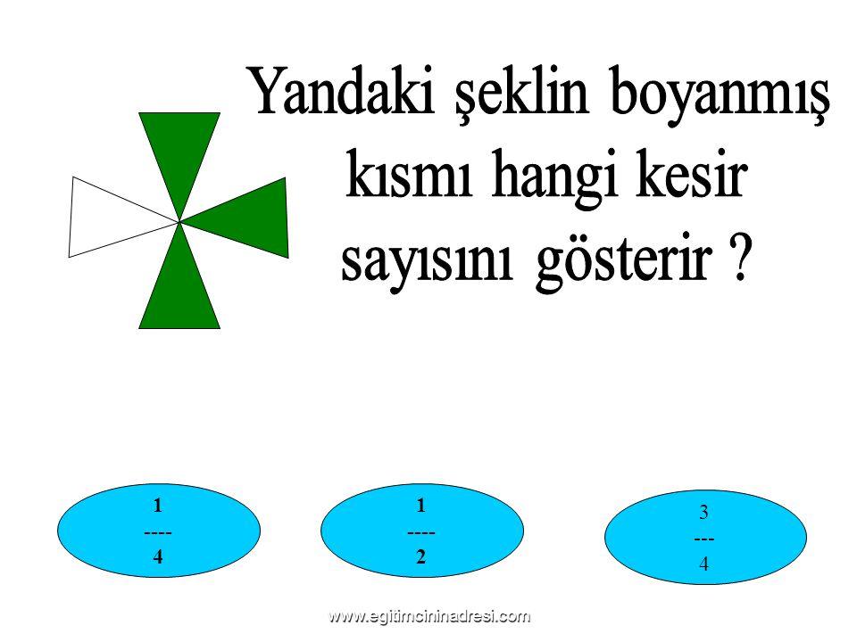 1 ---- 4 1 ---- 2 3 --- 4 www.egitimcininadresi.com