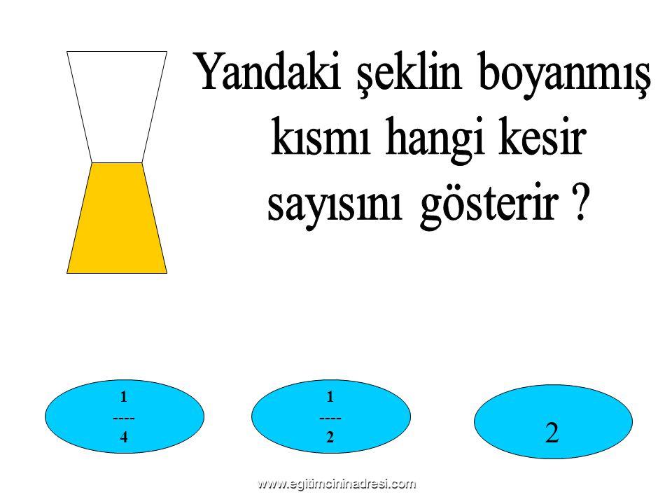 1 ---- 4 1 ---- 2 2 www.egitimcininadresi.com