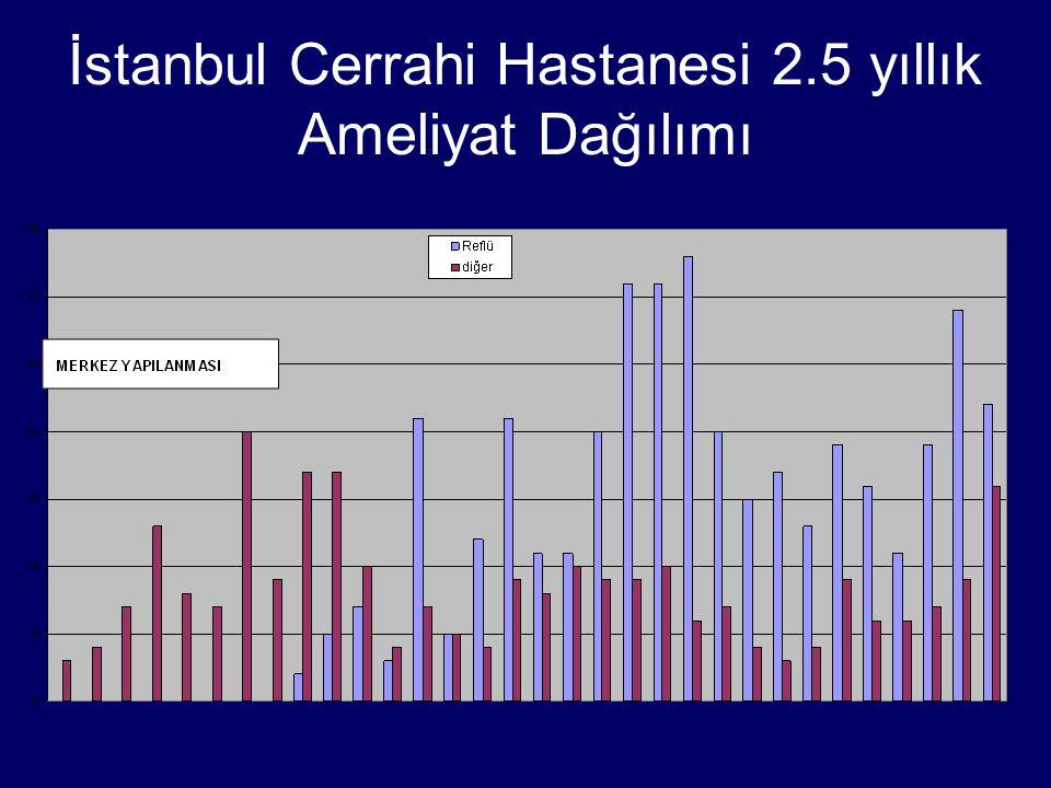 İstanbul Cerrahi Hastanesi 2.5 yıllık Ameliyat Dağılımı
