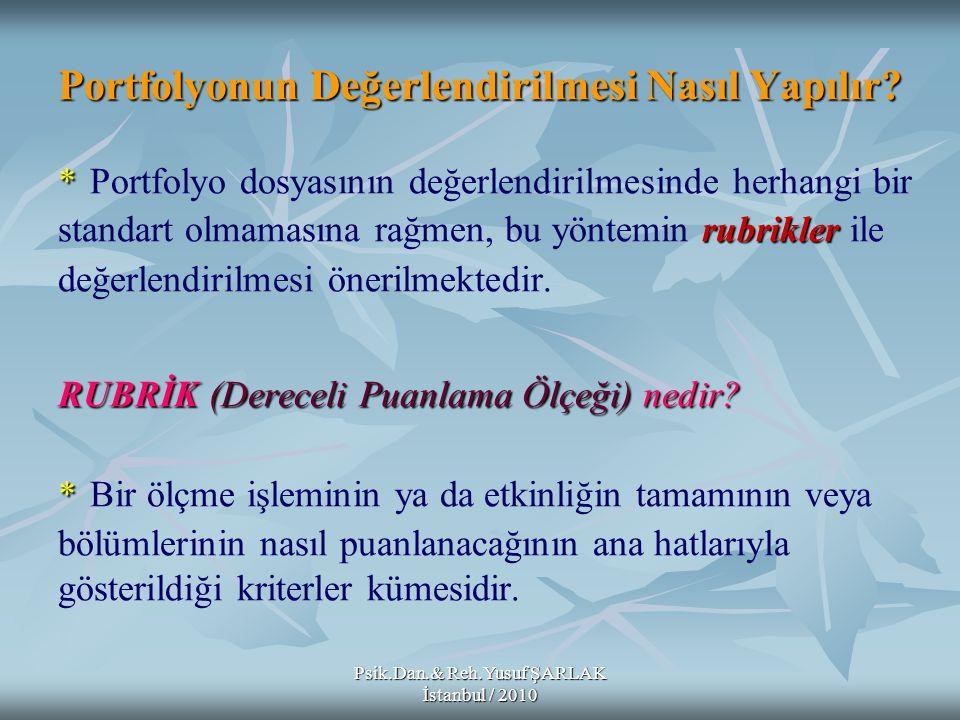 Psik.Dan.& Reh.Yusuf ŞARLAK İstanbul / 2010 11- 11- Vee Diyagramı *Novak * Gowin ve Novak tarafından anlamlı öğrenme teorisine dayalı olarak geliştirilen Vee diyagramları, kavramların oluşumunda kavramlar arası ilişki kurmaya yardımcı olur.
