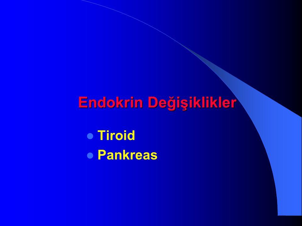 Endokrin Değişiklikler Tiroid Pankreas