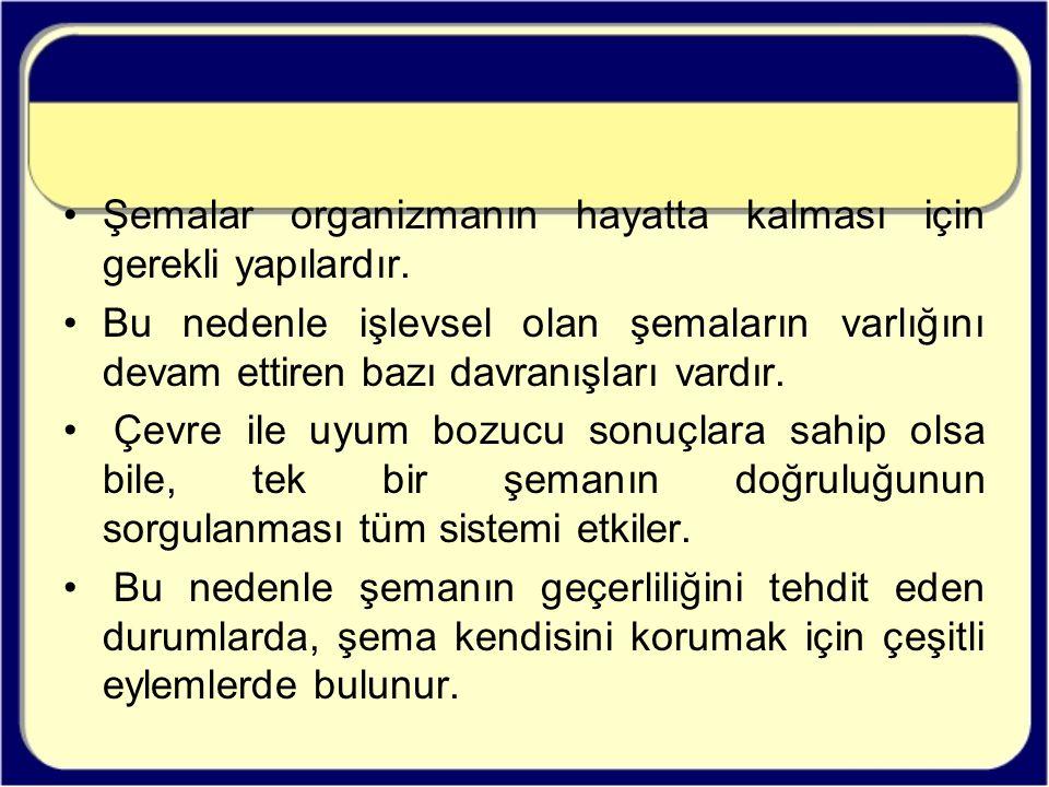 Şema Davranışları – Örnek 5 Şema Odaklı Yaklaşım Yeşim, kendini diğerlerinden farklı görüyor ve uyum sağlayamadığını düşünüyor (T).