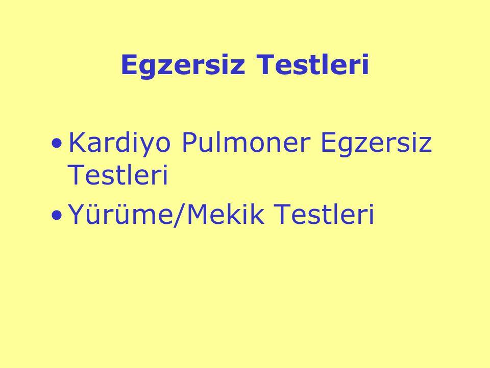 Kardiyo-Pulmoner Egzersiz Testi (KPET)Nedir.