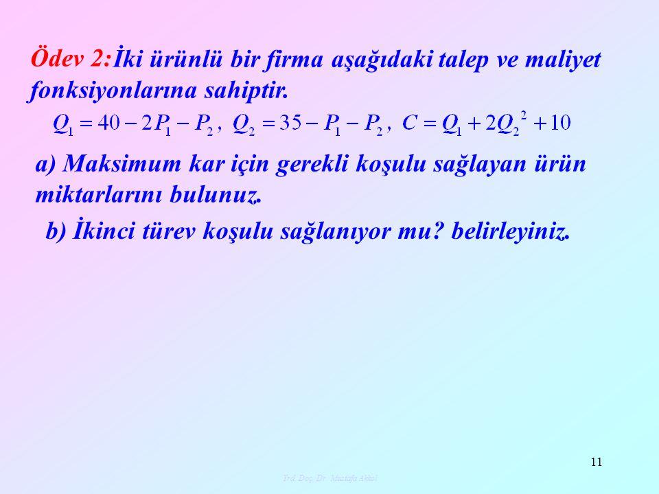 Yrd.Doç.Dr.Mustafa Akkol12 12 Yaşamın çeşitli alanlarında herhangi bir uygulama ile toplanan veriler tablo şekline getirilerek incelenir ve toplanan veriyi modelleyen bir fonksiyon bulunmaya çalışılır.