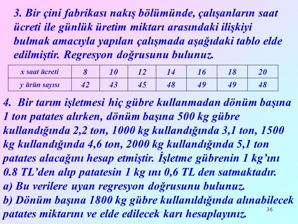 Yrd.Doç.Dr.Mustafa Akkol37 37 a) fiyat-talep denklemini bulunuz.