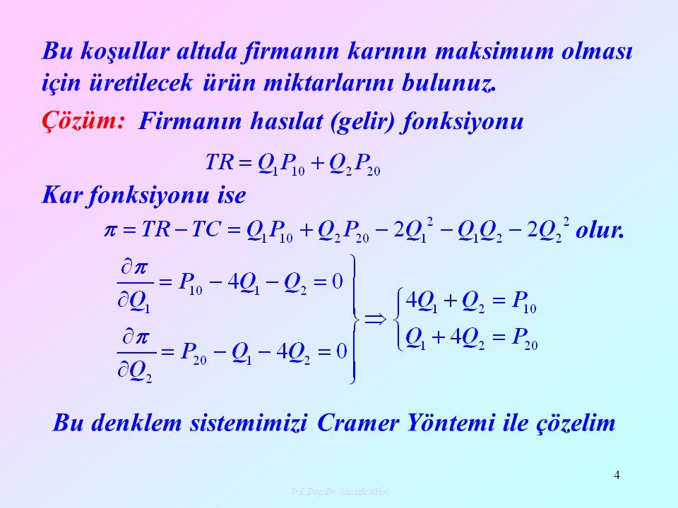 Yrd.Doç. Dr. Mustafa Akkol 5 olur.