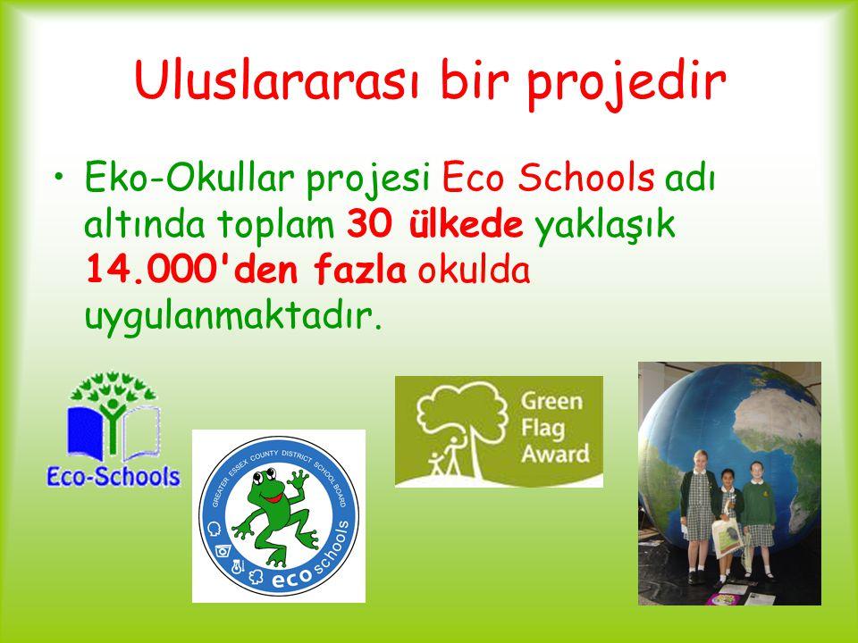 Uluslararası bir projedir Eko-Okullar projesi Eco Schools adı altında toplam 30 ülkede yaklaşık 14.000'den fazla okulda uygulanmaktadır.