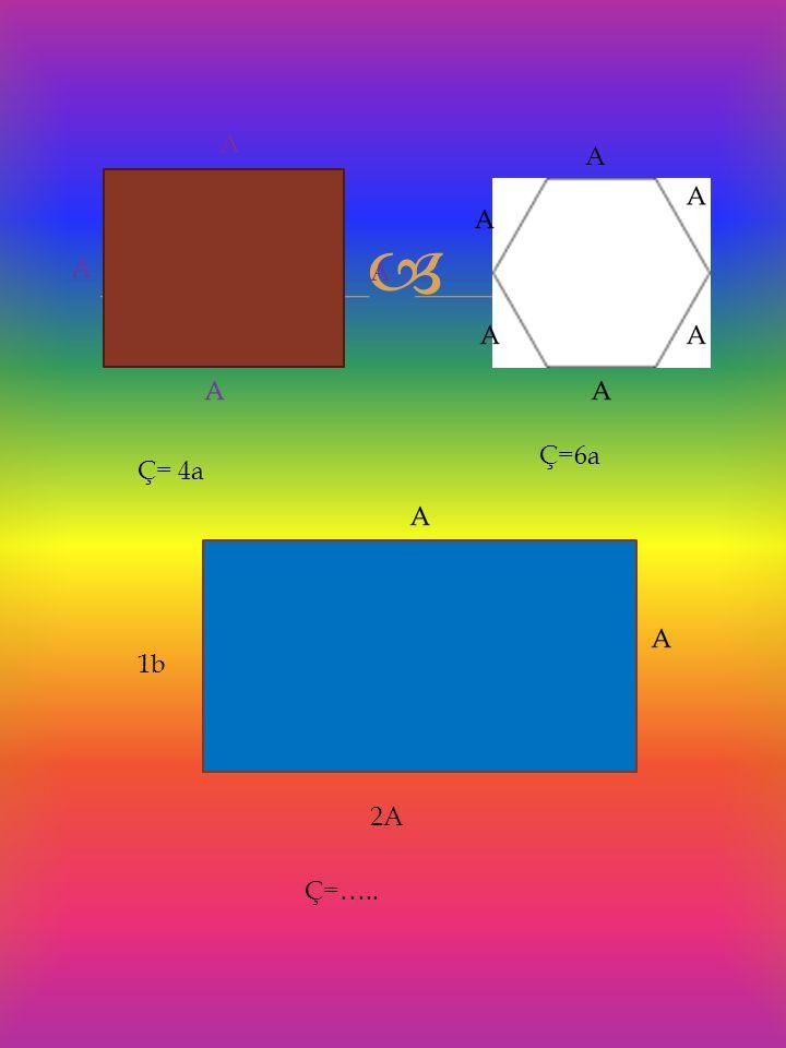  A Ç= 4a A Ç=6a Ç=….. 1b 2A
