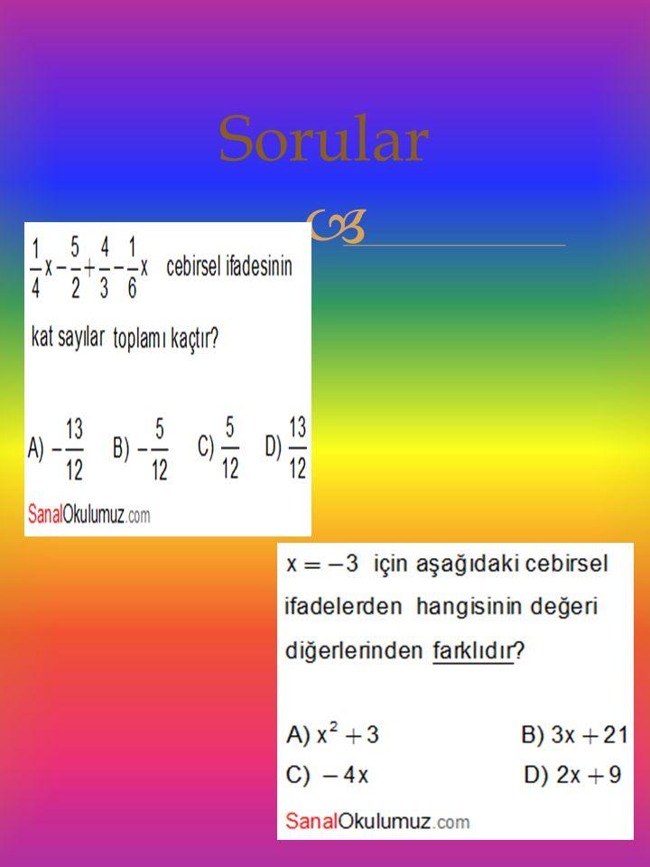  3,6,9,12… sayı örüntüsüne göre ; Örüntünün 5 ve 6.