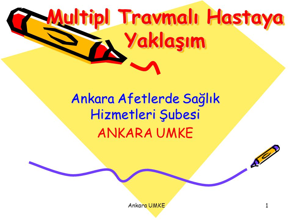 Ankara UMKE1 Multipl Travmalı Hastaya Yaklaşım Ankara Afetlerde Sağlık Hizmetleri Şubesi ANKARA UMKE