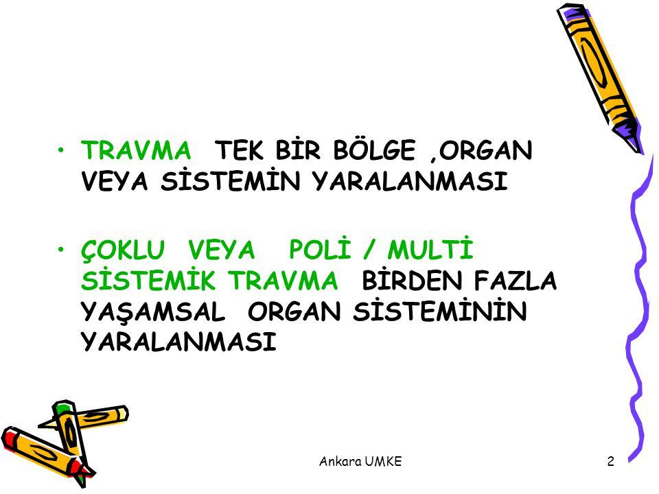 Ankara UMKE33 KANAMA KONTROLÜ Direkt Bası –Elavasyon –Sargı  Bası Noktaları (Tek Kemikler üzerinden)