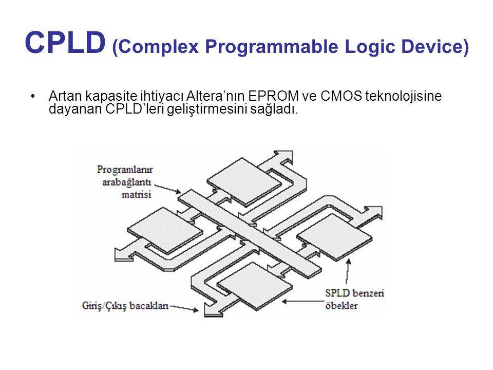 CPLD (Complex Programmable Logic Device) Artan kapasite ihtiyacı Altera'nın EPROM ve CMOS teknolojisine dayanan CPLD'leri geliştirmesini sağladı.
