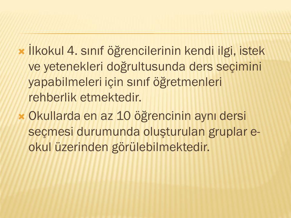  İlkokul 4.