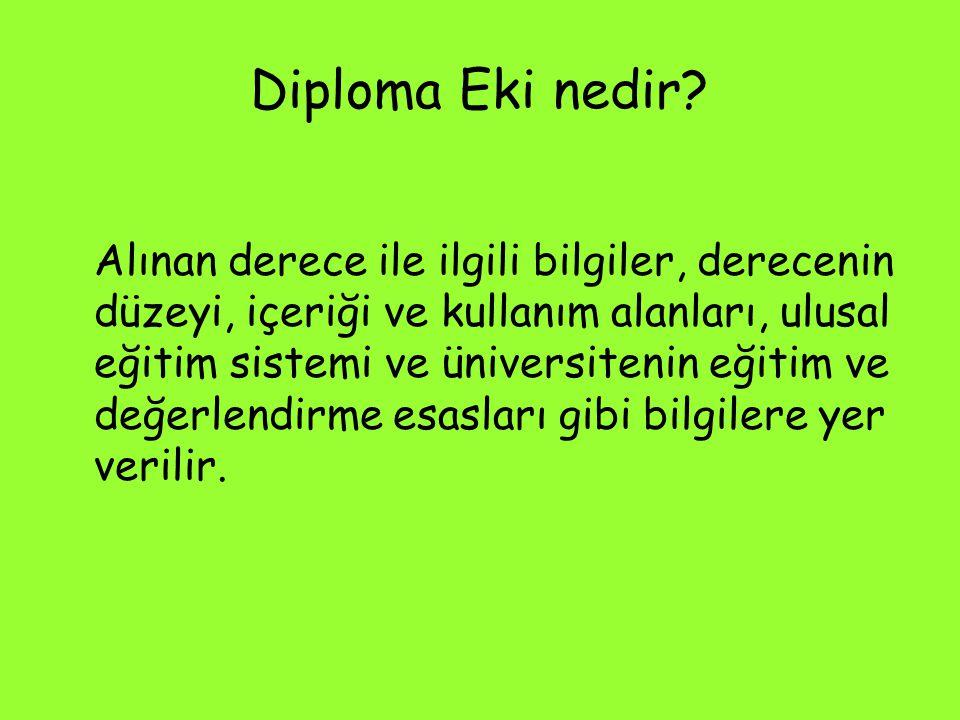 Diploma Eki nedir? Alınan derece ile ilgili bilgiler, derecenin düzeyi, içeriği ve kullanım alanları, ulusal eğitim sistemi ve üniversitenin eğitim ve