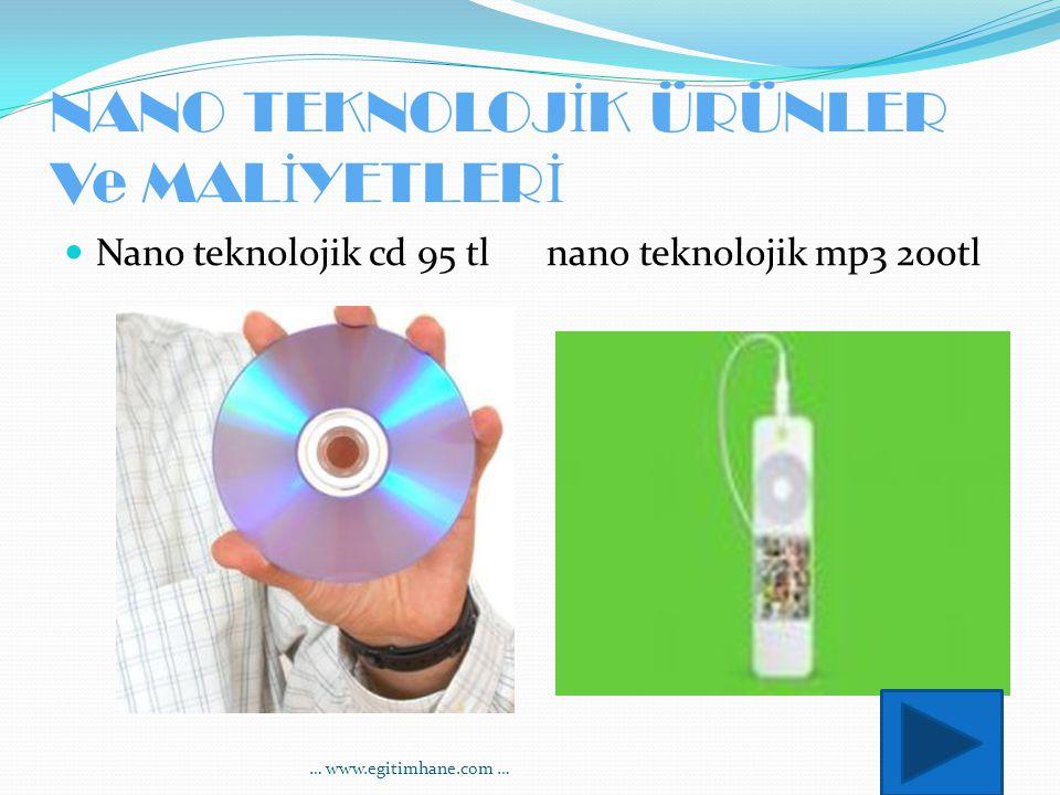 NANO TEKNOLOJ İ K ÜRÜNLER Ve MAL İ YETLER İ Nano teknolojik cd 95 tl nano teknolojik mp3 200tl … www.egitimhane.com …