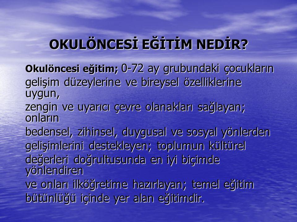 a) Çocukların; Atatürk, vatan, millet, a) Çocukların; Atatürk, vatan, millet, bayrak, aile ve insan sevgisini benimseyen, millî ve manevi değerlere bağlı, kendine güvenen, çevresiyle iyi iletişim kurabilen, dürüst, ilkeli, çağdaş düşünceli, hak ve sorumluluklarını bilen, saygılı ve kültürel çeşitlilik içinde hoşgörülü bireyler olarak yetişmelerine temel hazırlamak amacıyla çaba göstermek,